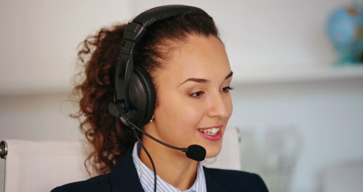 Call centre woman