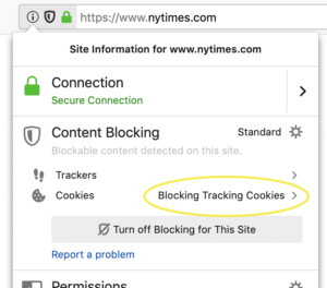 Firefox blocks third-party tracking cookies and cryptominers