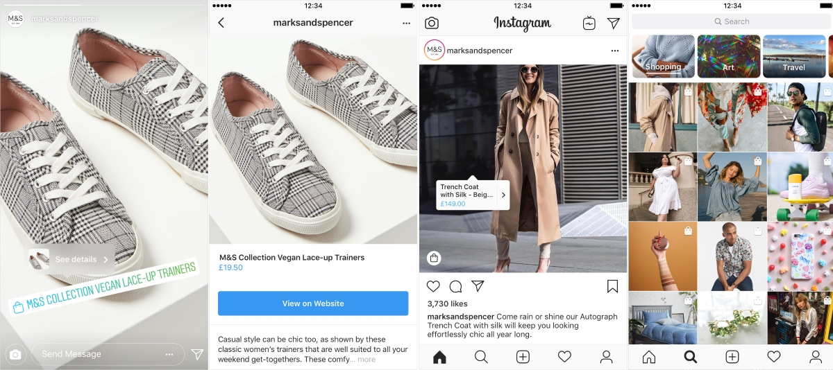 Instagram Shopping Stories Explore