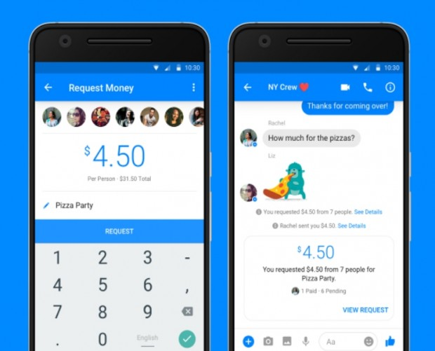 Facebook launches group payments for Messenger in the US