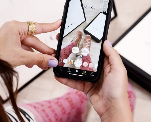 Gucci rolls out shoppable AR shoe try-on Lenses on Snapchat
