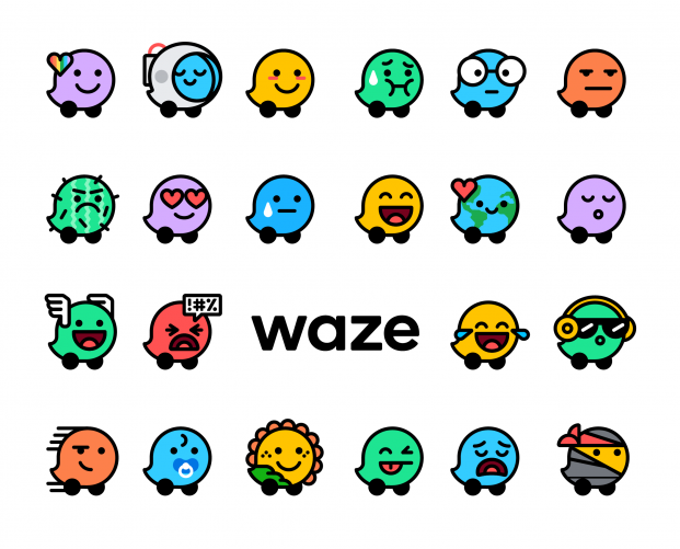 Waze brand refresh includes Mood icons to enable drivers to share how they're feeling