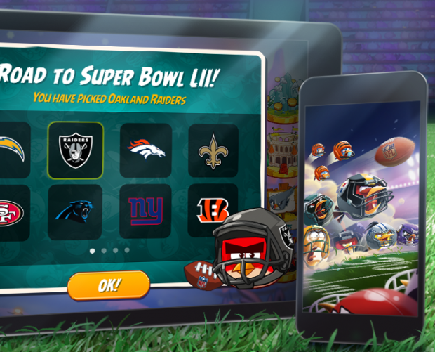 Rovio partners with Super Bowl LII for Angry Birds promotion