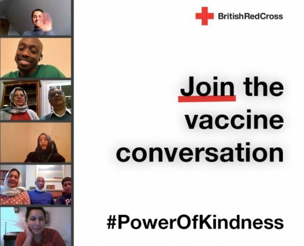 British Red Cross launches campaign to tackle vaccine uncertainty