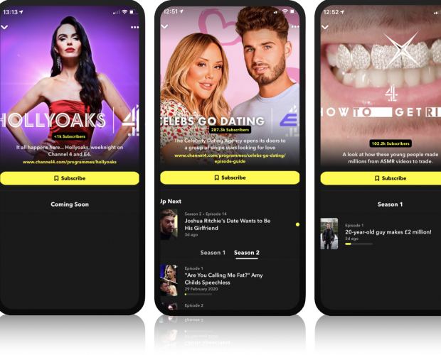 Channel 4 to launch over 300 short-form versions of its shows on Snapchat Discover