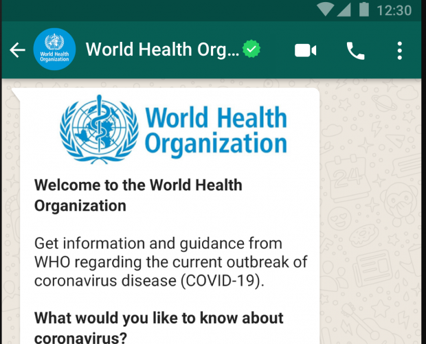 World Health Organisation launches coronavirus Health Alert service on WhatsApp