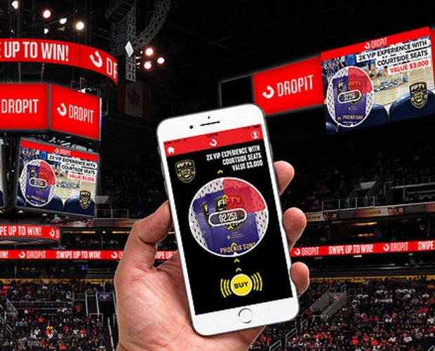 Interactive app Dropit partners with the NBA's Phoenix Suns for in-game mobile auctions
