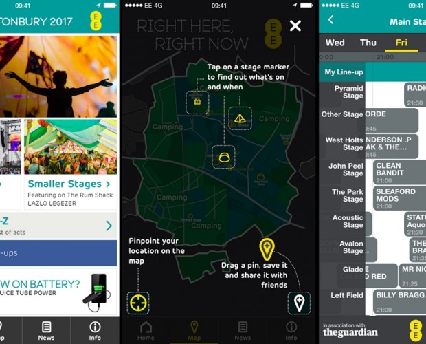 EE launches official Glasontbury 2017 app, with Apple Music integration