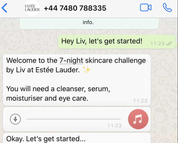 Estée Lauder launches Liv, a WhatsApp chatbot offering skincare advice during lockdown