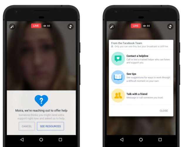 Facebook rolls out new suicide prevention tools including AI tech test
