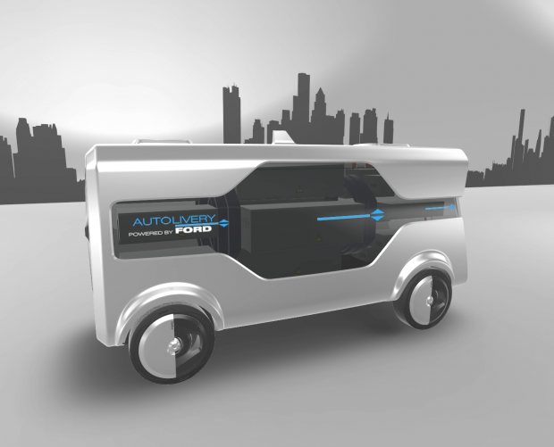 Ford's new self-driving concept uses drones to complete delivery