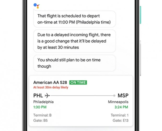Google Assistant can now alert users of possible flight delays