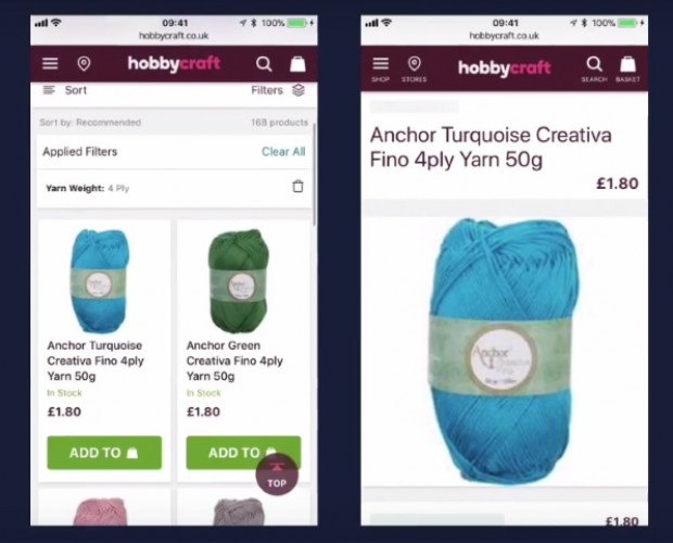 Hobbycraft launches mobile site with all the features you'd expect from an app
