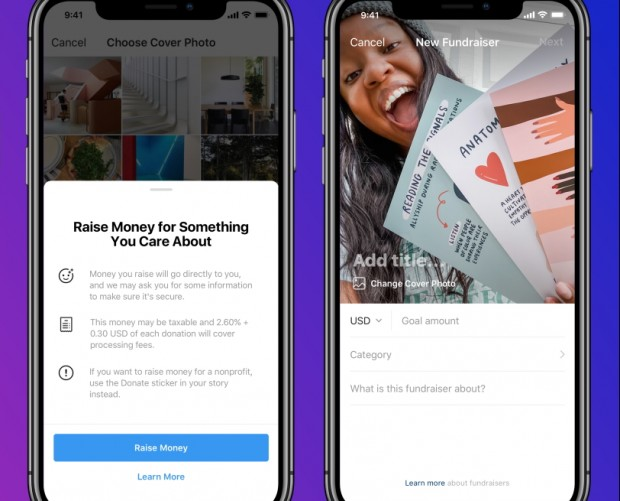 Instagram introduces way to fundraise for personal causes