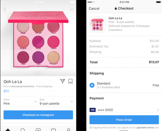 Checkout on Instagram feature enables users to buy from within the app