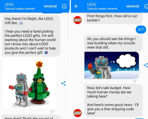 Lego introduces Ralph - a Messenger chatbot to help you decide what to buy for Christmas