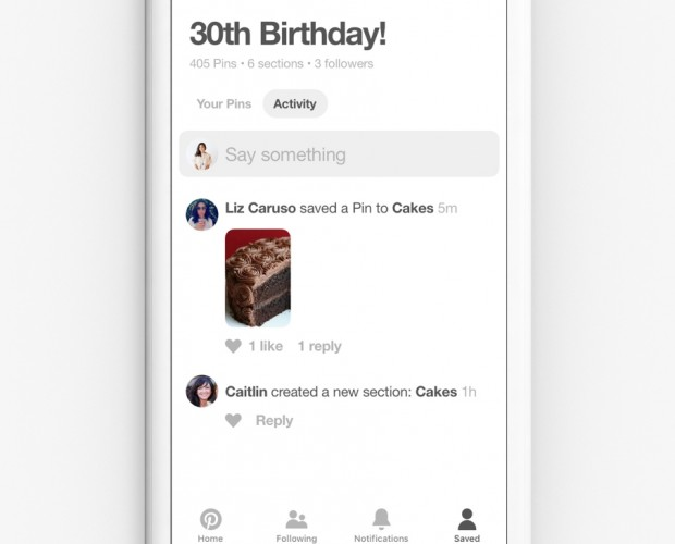 Pinterest adds chat tool for closer collaboration on group projects