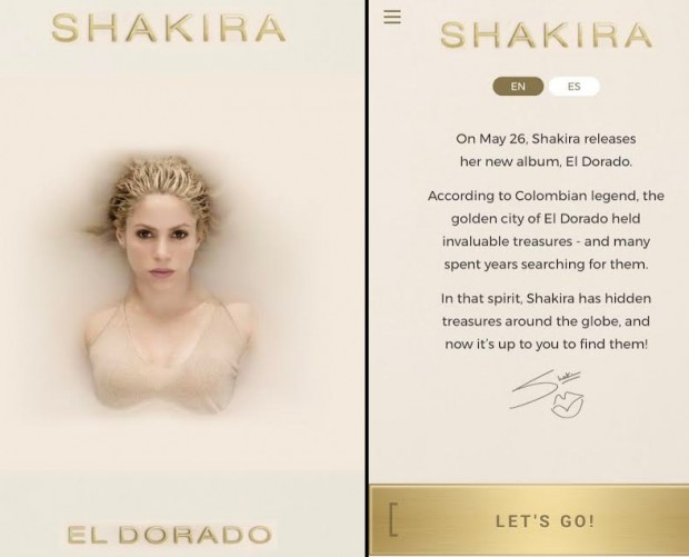 Sony Music wants you to find 'hidden treasures' for Shakira album promotional campaign