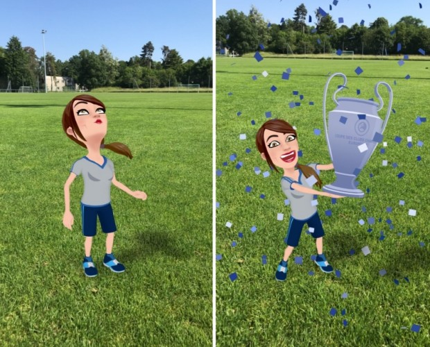 UEFA teams with Snapchat on Bitmoji AR experience for the Champions League final