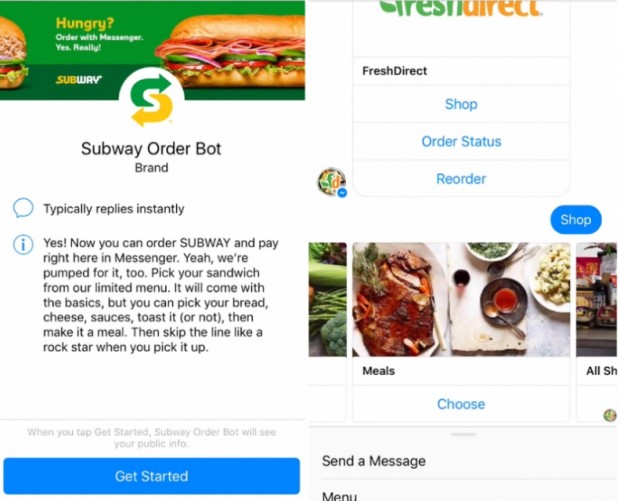 Subway, FreshDirect and The Cheesecake Factory launch Masterpass-enabled Messenger bots