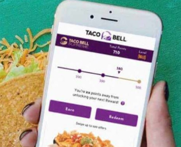Taco Bell rolls out personalised menus and offers for its registered app users