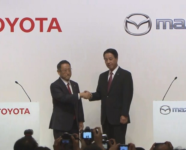 Toyota gets five per cent in Mazda, will open plant and create self-driving, in-car tech