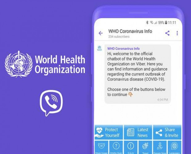 World Health Organization launches interactive COVID-19 chatbot on Viber