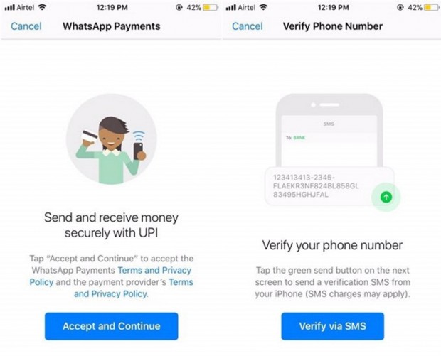 WhatsApp has reportedly introduced P2P payments in India