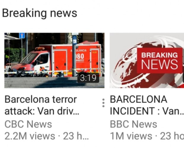 YouTube introduces 'Breaking news' feed across platforms