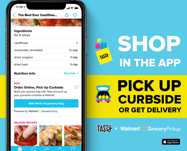 Walmart and Tasty partner to launch Shoppable Recipes