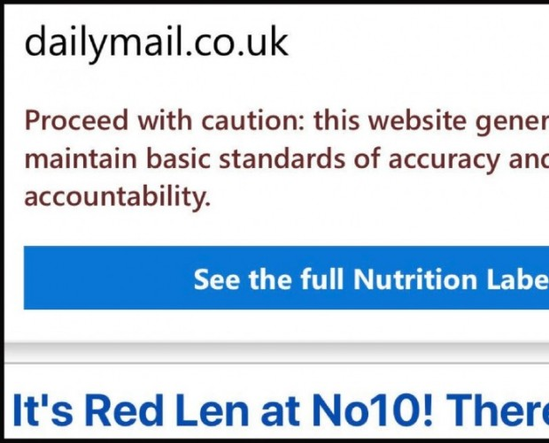 Mobile Edge browser users advised to approach Daily Mail website with caution